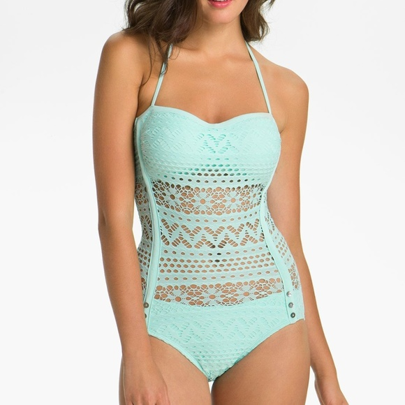 Robin Piccone Other - Robin Piccone Penelope Crochet Overlay One Piece